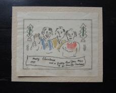 Christmas card, 1939.